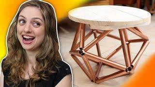 Como fazer uma mesa de 30 pernas (MESA ICOSAEDRO)