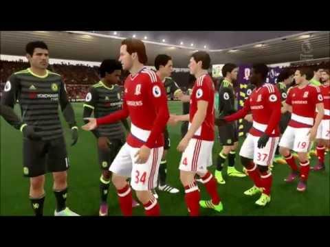 FIFA 17 Sim MIDDLESBROUGH Vs CHELSEA (Premier League) 20th/Nov/2016