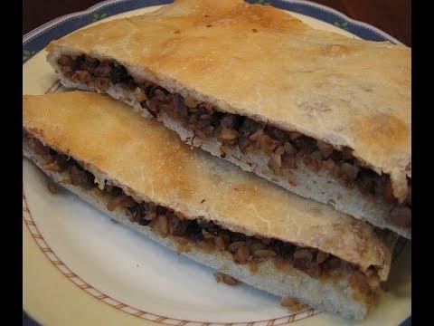 Рецепт: Пирог с грибами и яйцом на