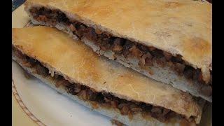 Пирог с грибами и гречкой (постный)