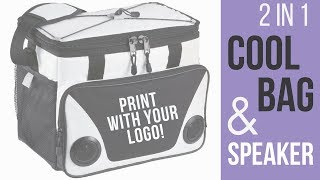 Promotional 2 in 1 Cooler Bag & Bluetooth Speaker - From Premier Promotional Products