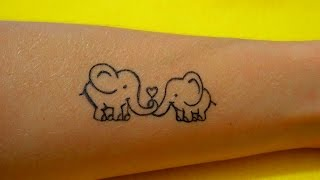 Как Нарисовать Гелевой Ручкой Тату Слоники #52 / How To Draw A Gel Pen Tattoo Designs Elephants(Все Видео Канала Рисуем Просто: https://www.youtube.com/channel/UCAELj3U5vke9DhuTJIabMGw Спасибо за просмотр! All Video Channel Just Draw: ..., 2016-10-23T08:41:29.000Z)