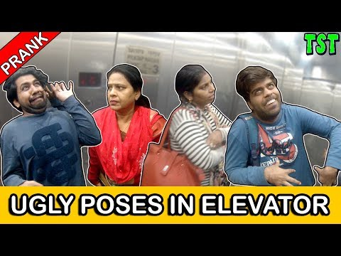 Ugly Poses Prank In Elevator   TST