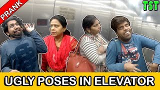 Ugly Poses Prank In Elevator | TST