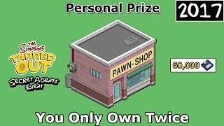 TSTO - Secret Agents Event | You Only Own Twice Pawn Shop | Personal Prize (2017)