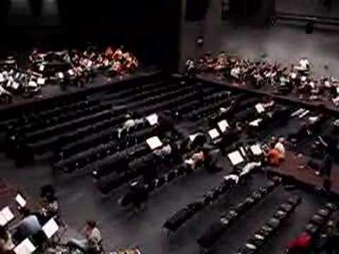 Stockhausen GRUPPEN: Birds-eye view (rehearsal)