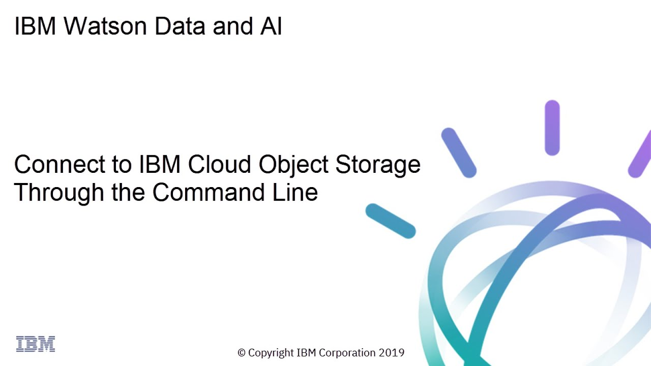 IBM Cloud SQL Query: Connect to IBM Cloud Object Storage Through the  Command Line