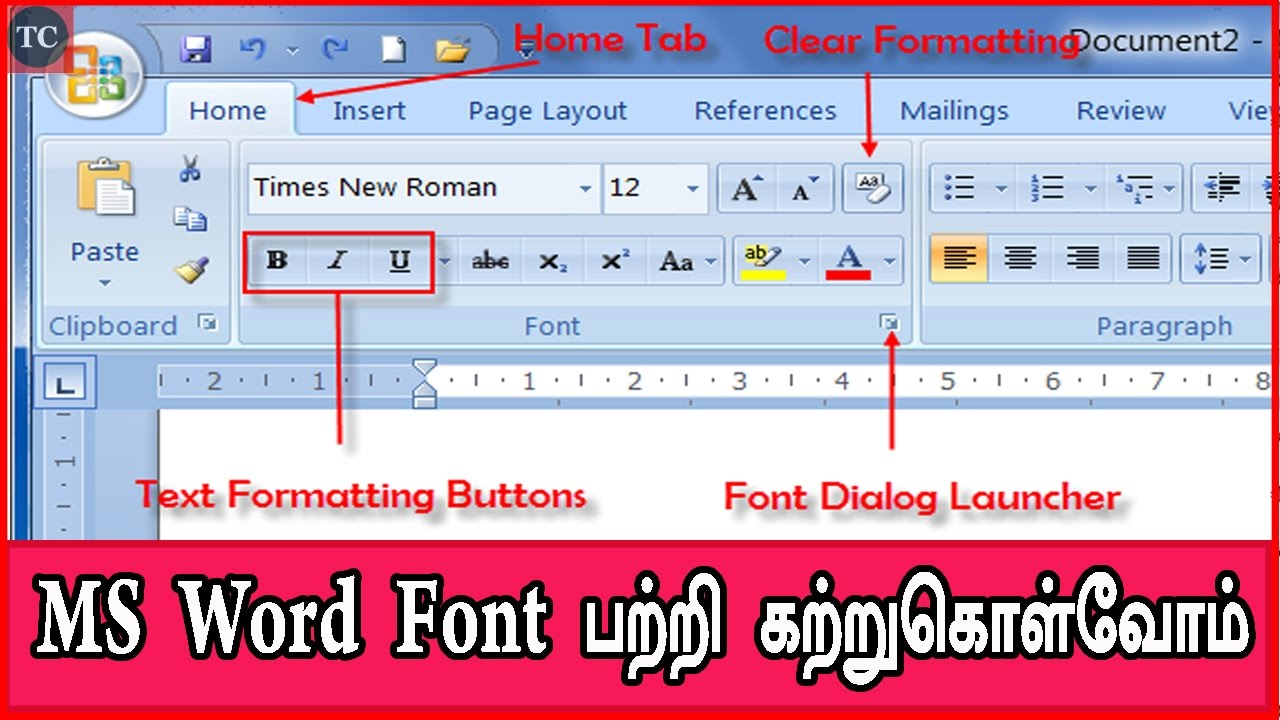 tamil font free download for ms word 2007