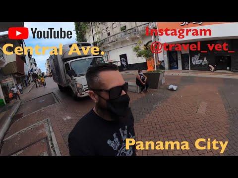 Panama City Panama central Avenue May 2021 shopping district