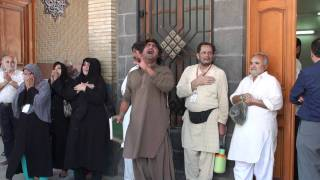 16-Jun-2010 Ali Yazdan Rizvi reciting farewell noha at roza of Bibi Syeda Zainab SalamullahiAlaihah