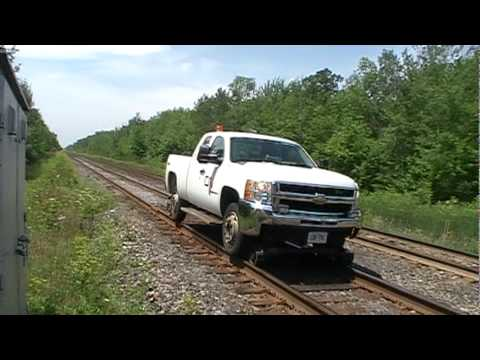 cn high rail truck passes wales rd youtube. Black Bedroom Furniture Sets. Home Design Ideas