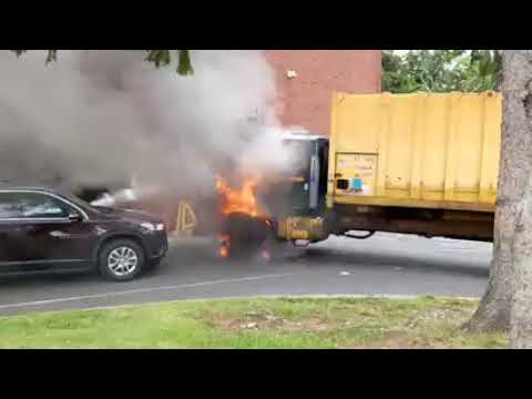 Garbage Truck Fire Behind Hackensack School Quickly Doused