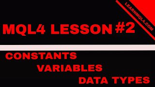 Mql4 Coding Lesson 2...  External Variables and Data Constants
