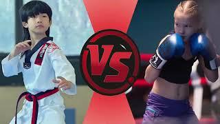 Küçük Bruce Lee vs Rus Boksör Kız - Çocuk Dövüşleri