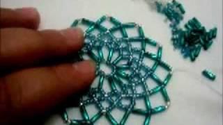 Repeat youtube video tuto détaillée du napperon en perles Tuto detailed beaded placemat