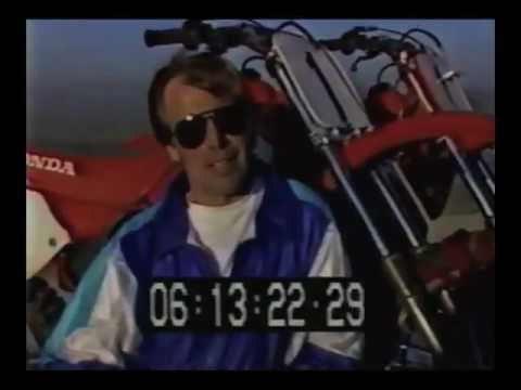 Rick Johnson 1989 MX Secret Honda Test...