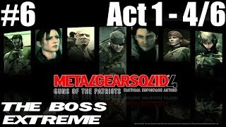 Metal Gear Solid 4 - The Boss Extreme Walkthrough - Part 6 - Act 1 - Liquid Sun 4/6