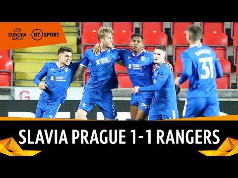 Slavia Prague vs Rangers (1-1)   McGregor makes stunning 90th minute save   Europa League Highlights