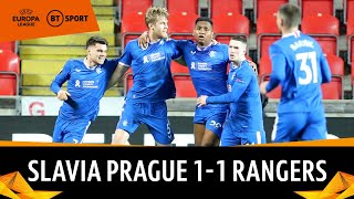 Slavia Prague vs Rangers (1-1) | McGregor makes stunning 90th minute save | Europa League Highlights