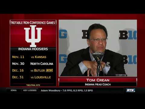 Tom Crean 2016 Basketball Media Day Press Conference
