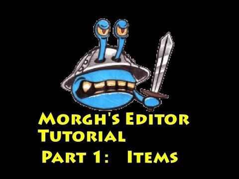 Mount and Blade: Morghs Editor Tutorial Part 1 - Items
