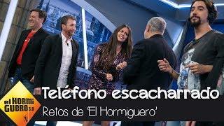 Cristina Pedroche juega al teléfono escacharrado con Carlos Latre - El Hormiguero 3.0