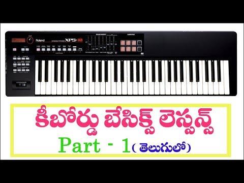 Keyboard basics lessons part 1 in telugu|| kv presents