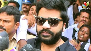 Simbu Speech I opened my heart to the police rest in God's Hand