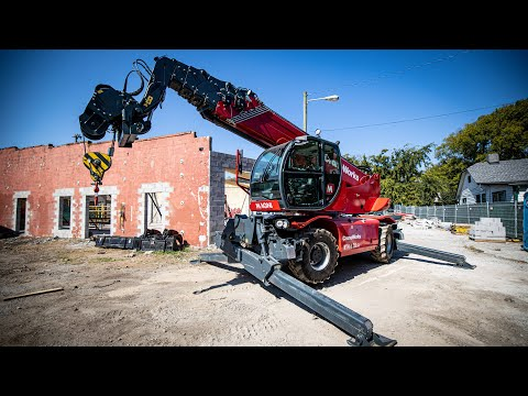Operating A CRANE With A REMOTE CONTROL!!!