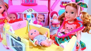 Baby Doll Barbie House Making Room with Toys Kids Playing Cartoon American Girl Video Toy Pudding TV