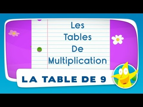 Comptines pour enfants la table de 9 apprendre les for Table multiplication de 9
