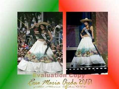 Trajes tipicos Miss Mexico National costume Mexico