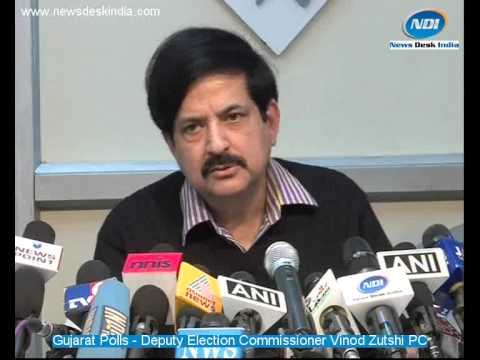 Gujarat Polls - Deputy Election Commissioner Vinod Zutshi address media in New Delhi