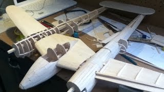Homemade Balsa Wood P-38 Lightning. Hd