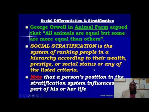 Social Stratification and Differentiation