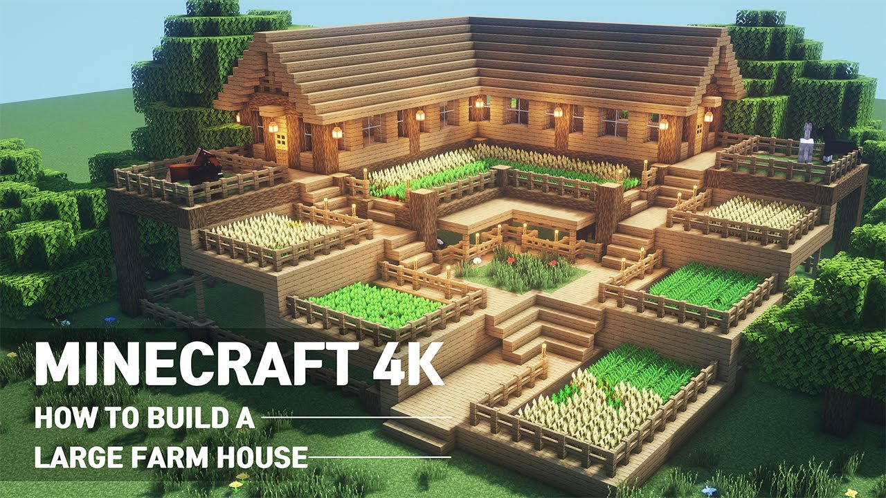 Minecraft House Tutorial How To Build The Ultimate Farm House 90 Youtube