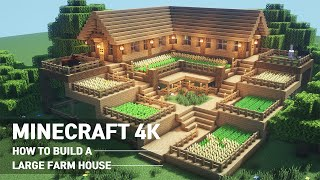 Minecraft House Tutorial :: How to build the ultimate farm house #90