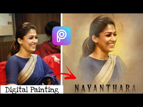 Digital Oil Painting In Picsart | Oil painting Picsart | Smudge Art Tutorial