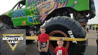 Monster Jam Pit Party at Gillette Stadium with Dirtbike Logan