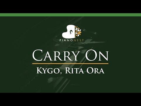 Kygo, Rita Ora - Carry On - LOWER Key (Piano Karaoke / Sing Along)