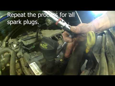 Spark plug replacement 2013 Dodge Grand Caravan 3.6L Install, remove or replace