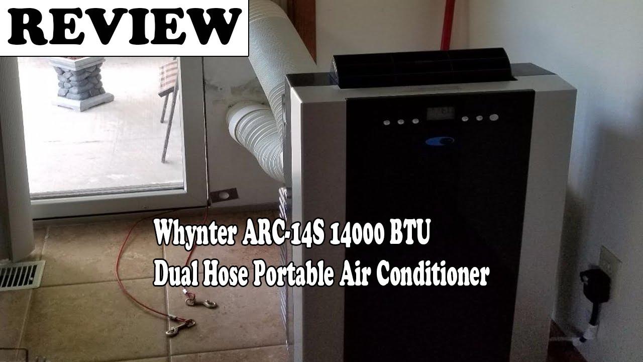 Whynter ARC-14S 14000 BTU Dual Hose Portable Air Conditioner ...