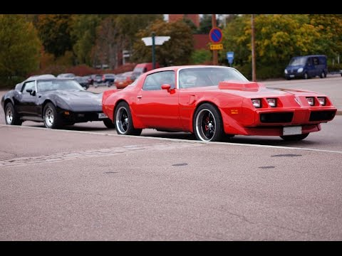 LOUD V8 COMBO! C3 Corvette 427 & Pontiac Trans Am 6.6 - insane exhaust sounds!
