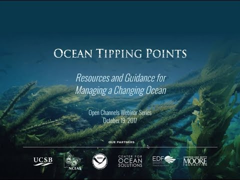 Tipping Points: Resources and Guidance for Managing a Changing Ocean