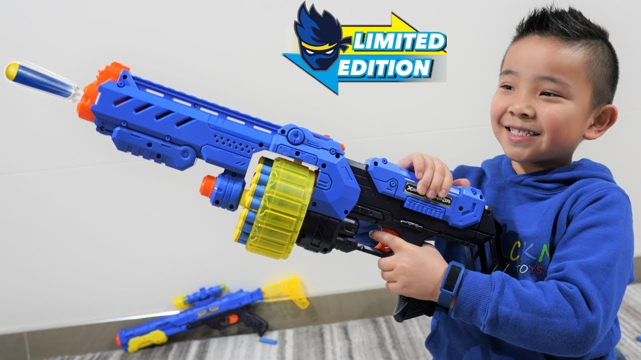 NEW Ninja X-Shot Blaster Collection Unboxing Fun With CKN Toys