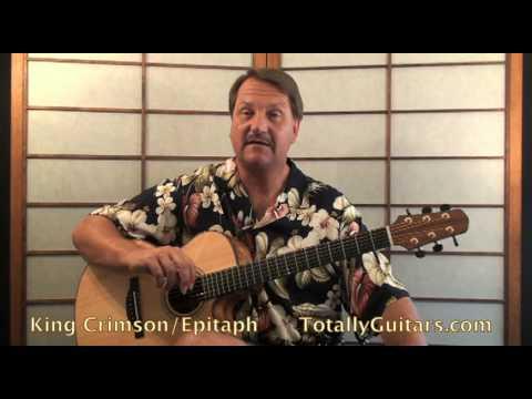 King Crimson - Epitaph Guitar Lesson