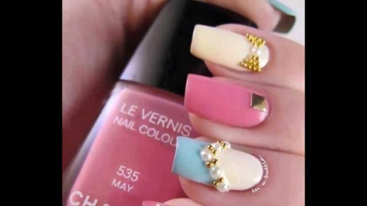 10 Diseños De Uñas Abril 2013 Hd Decoraciones Nail Art Youtube