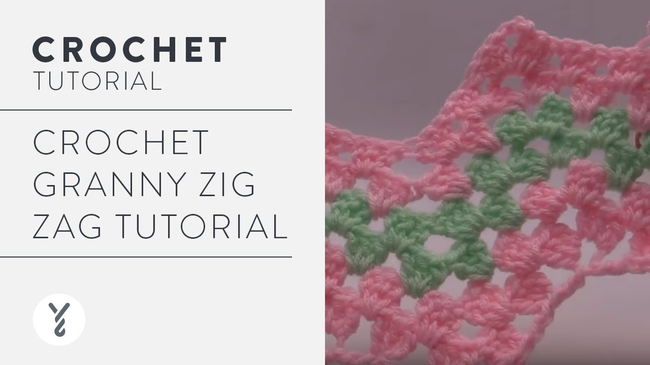 Crochet Granny Zig Zag Tutorial - YouTube