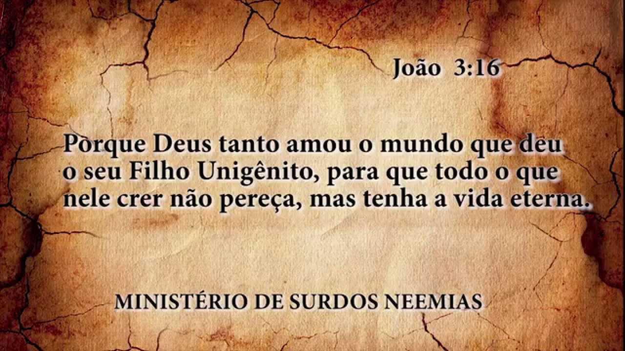 Top João 3:16 - Projeto de Memorização de Versículo Bíblico em LIBRAS  SU64