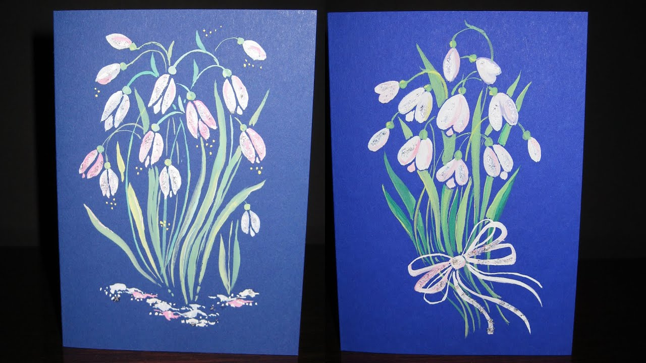 Speed painting snowdrops greeting cards gouache iotn youtube speed painting snowdrops greeting cards gouache iotn kristyandbryce Gallery